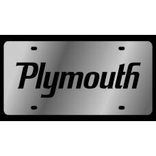 Dodge Plymouth Stainless Steel License Plate
