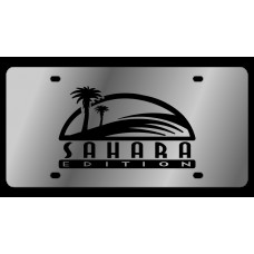 Jeep Sahara Stainless Steel License Plate