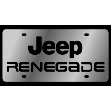 Jeep Renegade Stainless Steel License Plate