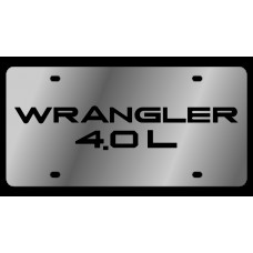 Jeep Wrangler 4.0L Stainless Steel License Plate