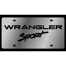 Jeep Wrangler Sport Stainless Steel License Plate