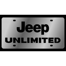 Jeep Unlimited Stainless Steel License Plate