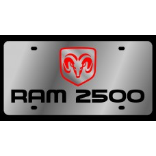 Dodge RAM 2500 Stainless Steel License Plate
