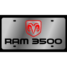 Dodge RAM 3500 Stainless Steel License Plate