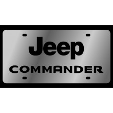 Jeep Commander Stainless Steel License Plate