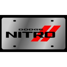 Dodge Nitro Stainless Steel License Plate