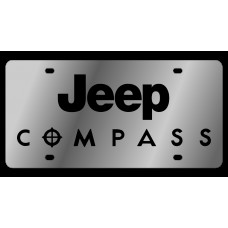 Jeep Compass Stainless Steel License Plate