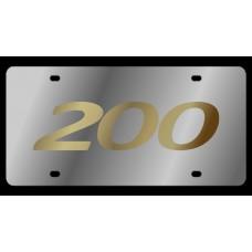 Chrysler 200 Stainless Steel License Plate