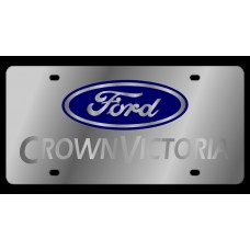 Ford Crown Victoria Stainless Steel License Plate