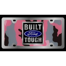 Ford Built Ford Tough Stainless Steel License Plate