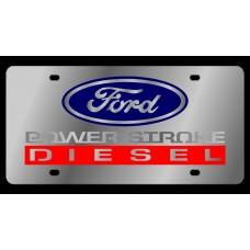 Ford 2005 Power Stroke Diesel Stainless Steel License Plate