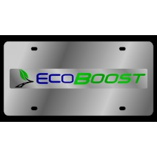 Ford EcoBoost Stainless Steel License Plate