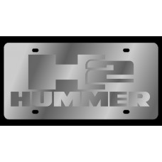 Hummer H2 Stainless Steel License Plate
