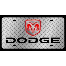 Dodge Diamond Plate License Plate