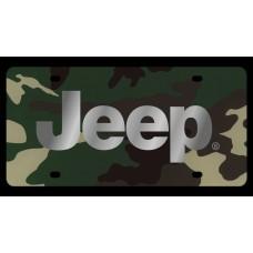 Jeep Green Camo License Plate