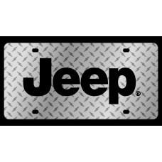 Jeep Diamond Plate License Plate