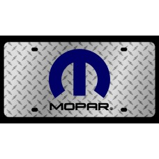 Mopar Logo Diamond Plate License Plate