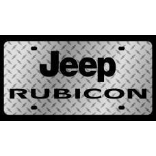 Jeep Rubicon Diamond Plate License Plate