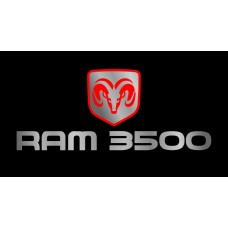 Dodge RAM 3500 License Plate