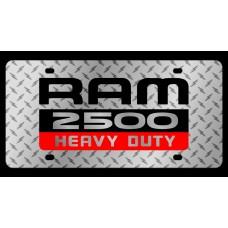 Dodge RAM 2500 Heavy Duty Diamond Plate License Plate