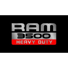 Dodge RAM 3500 Heavy Duty License Plate