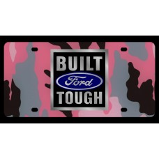 Built Ford Tough License Plate
