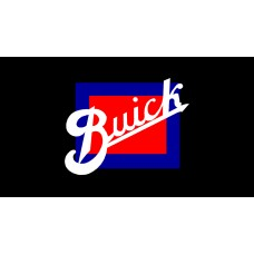 Buick Retro License Plate on Black Steel
