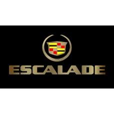 Cadillac Escalade License Plate on Black Steel