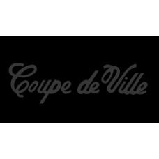 Cadillac Coupe de Ville License Plate on Black Steel
