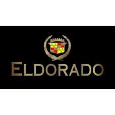 Cadillac Eldorado License Plate on Black Steel