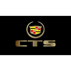 Cadillac CTS License Plate on Black Steel