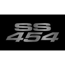Chevrolet SS 454 License Plate on Black Steel