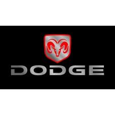Dodge License Plate on Black Steel