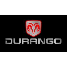 Dodge Durango License Plate on Black Steel