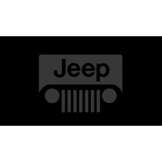 Jeep Grill License Plate on Black Steel