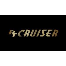 Dodge PT Cruiser License Plate on Black Steel