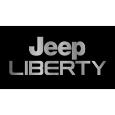 Jeep Liberty License Plate on Black Steel