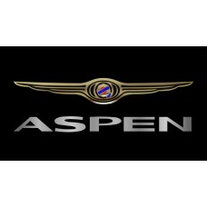 Chrysler Aspen License Plate on Black Steel
