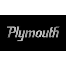 Dodge Plymouth License Plate on Black Steel