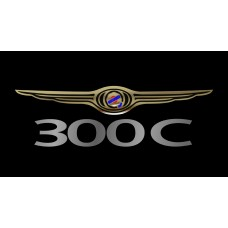 Chrysler 300C License Plate on Black Steel