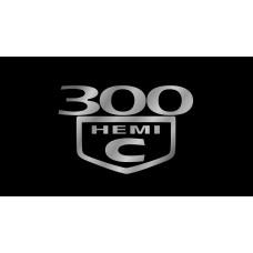 Chrysler 300C HEMI License Plate on Black Steel