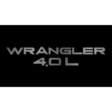 Jeep Wrangler 4.0L License Plate on Black Steel