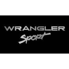Jeep Wrangler Sport License Plate on Black Steel