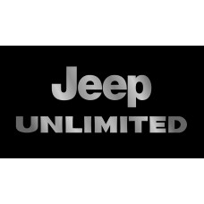 Jeep Unlimited License Plate on Black Steel