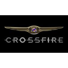 Chrysler Crossfire License Plate on Black Steel