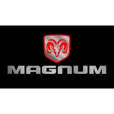 Dodge Magnum License Plate on Black Steel