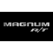 Dodge Magnum RT License Plate on Black Steel