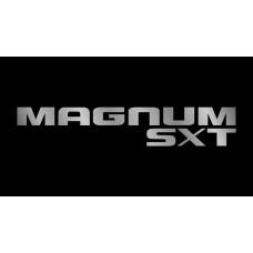 Dodge Magnum SXT License Plate on Black Steel