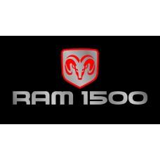 Dodge RAM 1500 License Plate on Black Steel
