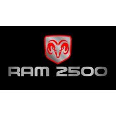 Dodge RAM 2500 License Plate on Black Steel